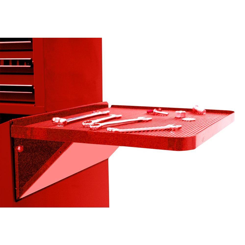 Professional 27 in. Side Folding Shelf in Red