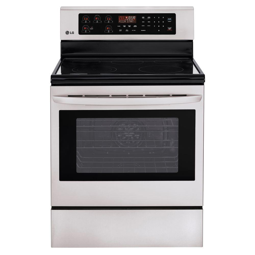LG Electronics 6.3 cu. ft. Electric Range with Self-Cleaning Convection Oven in Stainless Steel