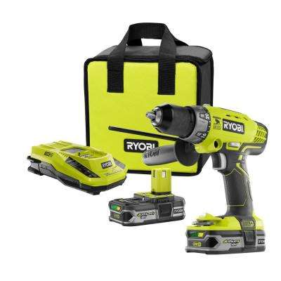 18-Volt ONE+ Lithium-Ion Cordless 1/2 in. Hammer Drill/Driver Kit with (2) 1.5 Ah Batteries, Charger, and Tool Bag