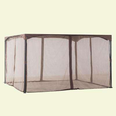 12 ft. x 10 ft. Cabin-Style Soft Top Gazebo Replacement Mosquito Netting