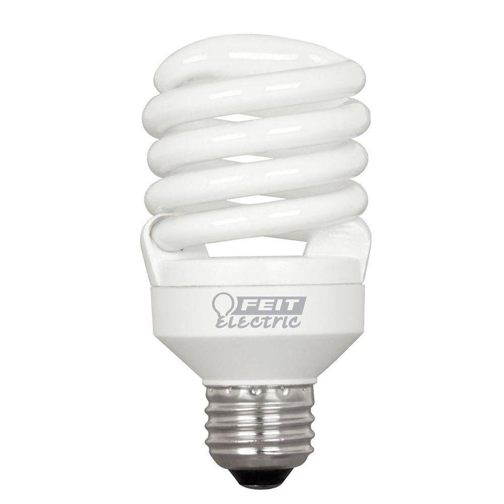 75-Watt Equivalent Soft White T2 Spiral CFL Light Bulb (24-Pack)