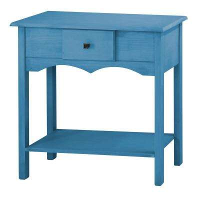 Jay 31.49 in. Tall Blue Wash Sideboard with 1-Full Extension Drawer