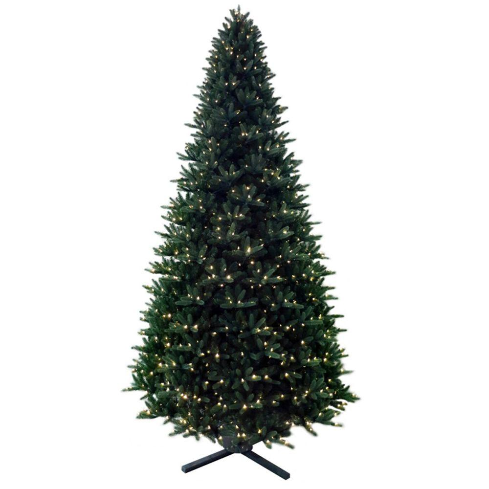 Martha Stewart Living 12 ft. Pre-Lit LED Regal Fir Artificial Christmas Tree with Dual Function Lights