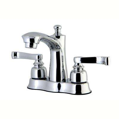 French 4 in. Centerset 2-Handle Bathroom Faucet in Polished Chrome