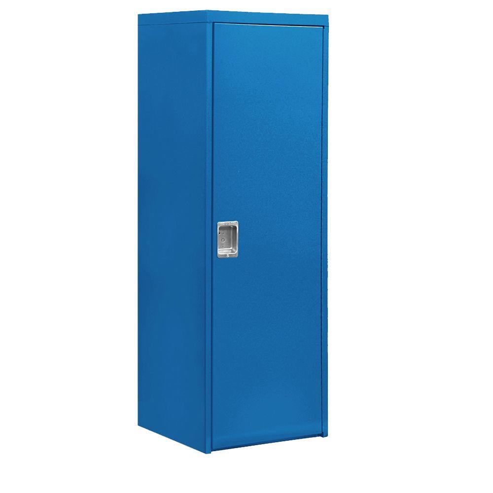 7100 Series 24 in. W x 72 in. H x 24 in. D 1-Doors Industrial Storage Cabinet in Blue