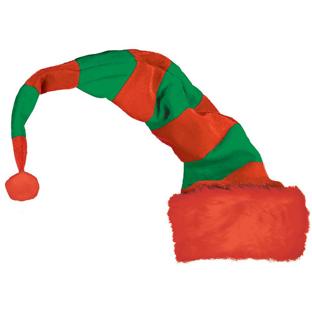 8eff543d8ce9d Amscan 32 in. x 12 in. Elf Striped Christmas Red and Green Bend to ...