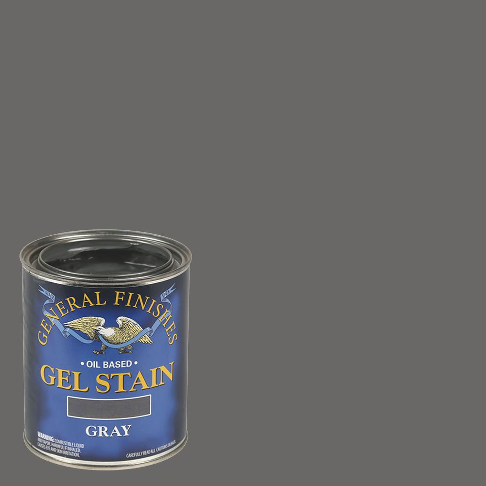 General Finishes 1 Qt Gray Oil Based Interior Wood Gel Stain Gf Grq The Home Depot