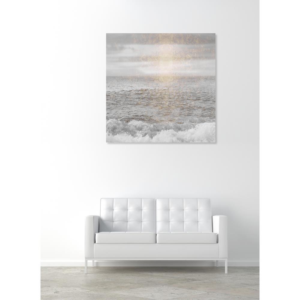 U0027Water Grey Seau0027 By Oliver Gal Printed