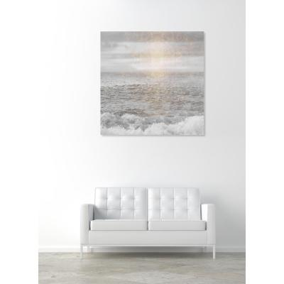 20 in. x 20 in. 'Water Grey Sea' by Oliver Gal Printed Framed Canvas Wall Art