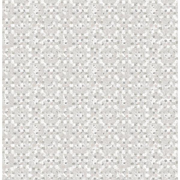 A-Street 8 in. x 10 in. Tia Taupe Texture Wallpaper Sample