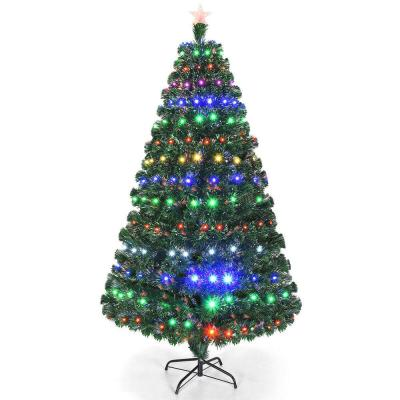 7 ft. Pre-Lit Artificial Christmas Tree Fiber Optic with Multi-Color LED Lights and Stand