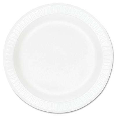 Concorde Non-Laminated Foam Plastic Plates, 9 in., White, 500 Per Case