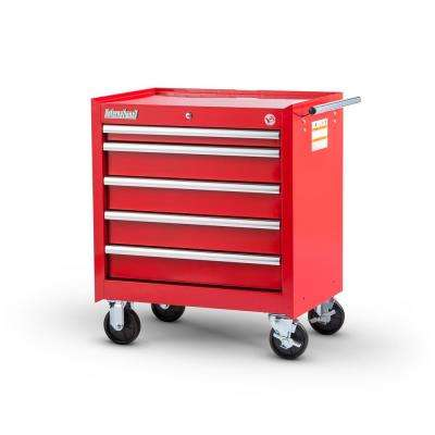Tech Series 27 in. 5-Drawer Roller Cabinet Tool Chest in Red
