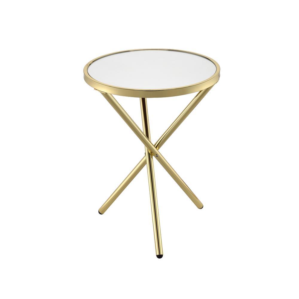 ACME Furniture Lajita Mirror and Gold Side Table 81817