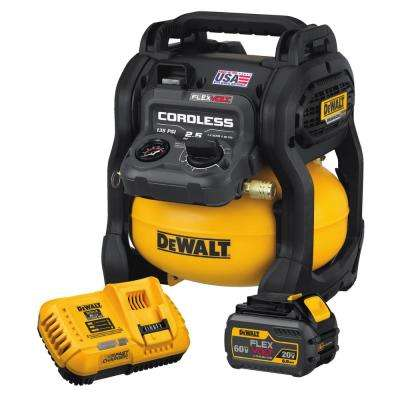FLEXVOLT 2.5 Gal. 60-Volt MAX Brushless Cordless Air Compressor Kit