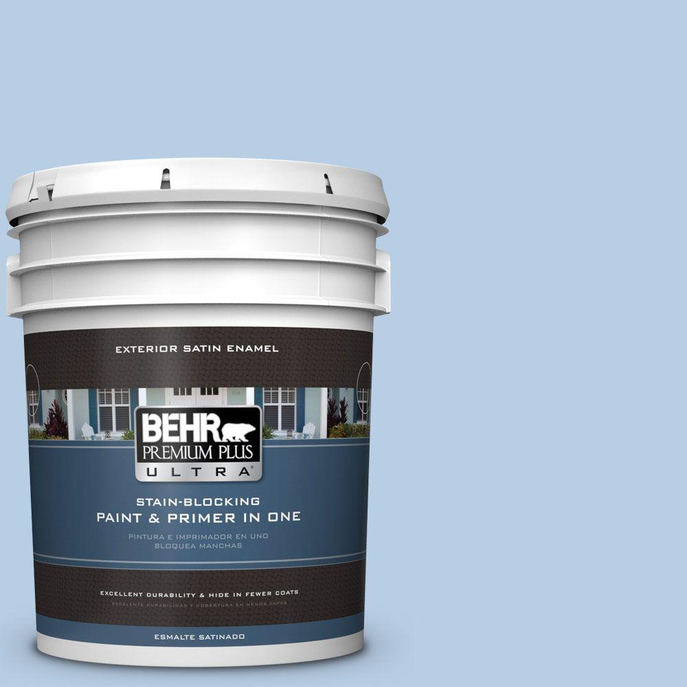 BEHR Premium Plus Ultra 5-gal. #570C-3 Tender Twilight Satin Enamel Exterior Paint