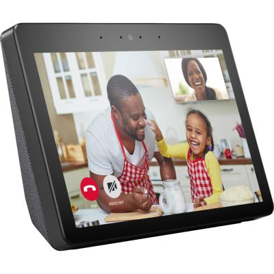Echo Show (2nd Gen) - Smart Speaker with Alexa and Built-In Smart Home Hub in Charcoal
