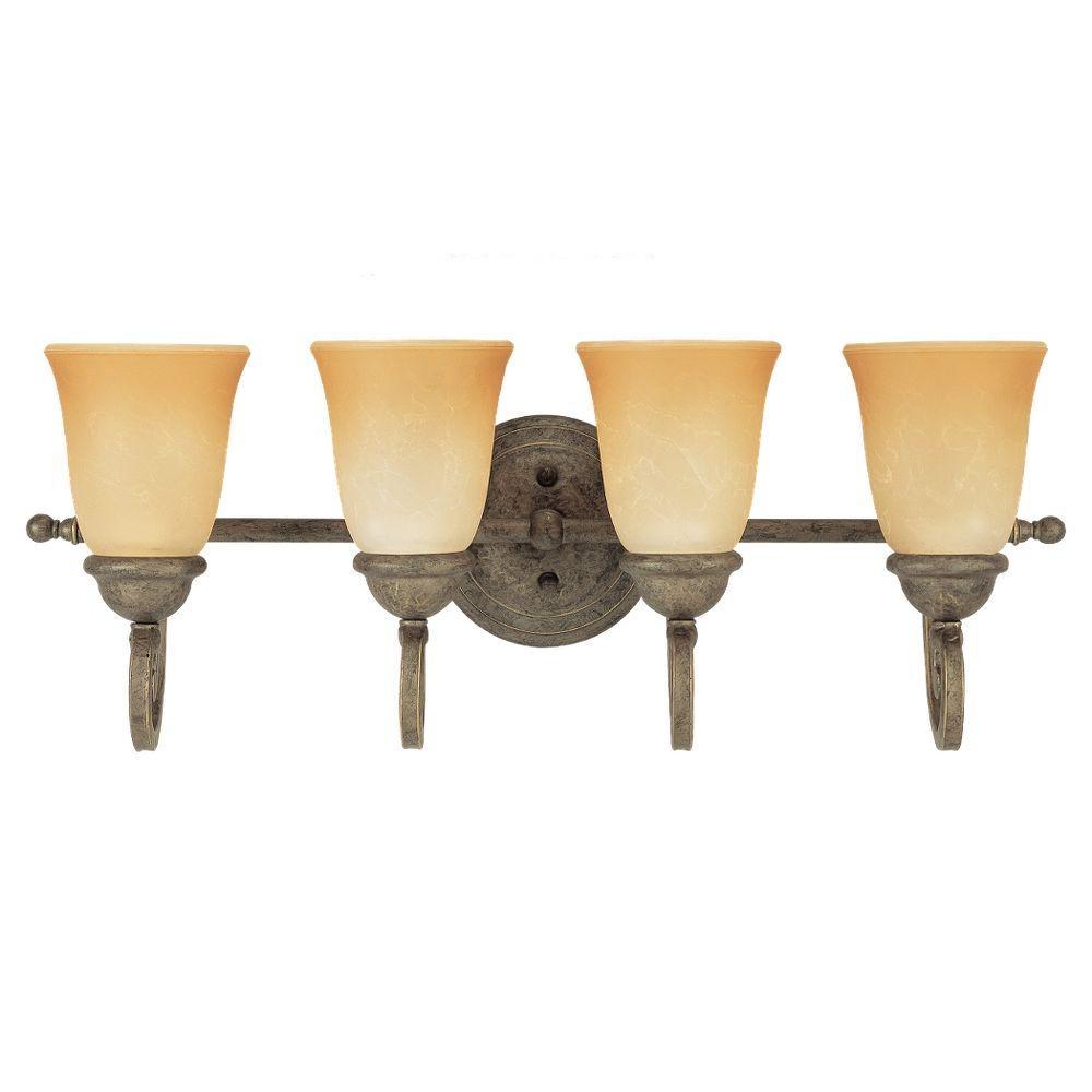 Sea Gull Lighting Brandywine 4-Light Antique Bronze Vanity Fixture