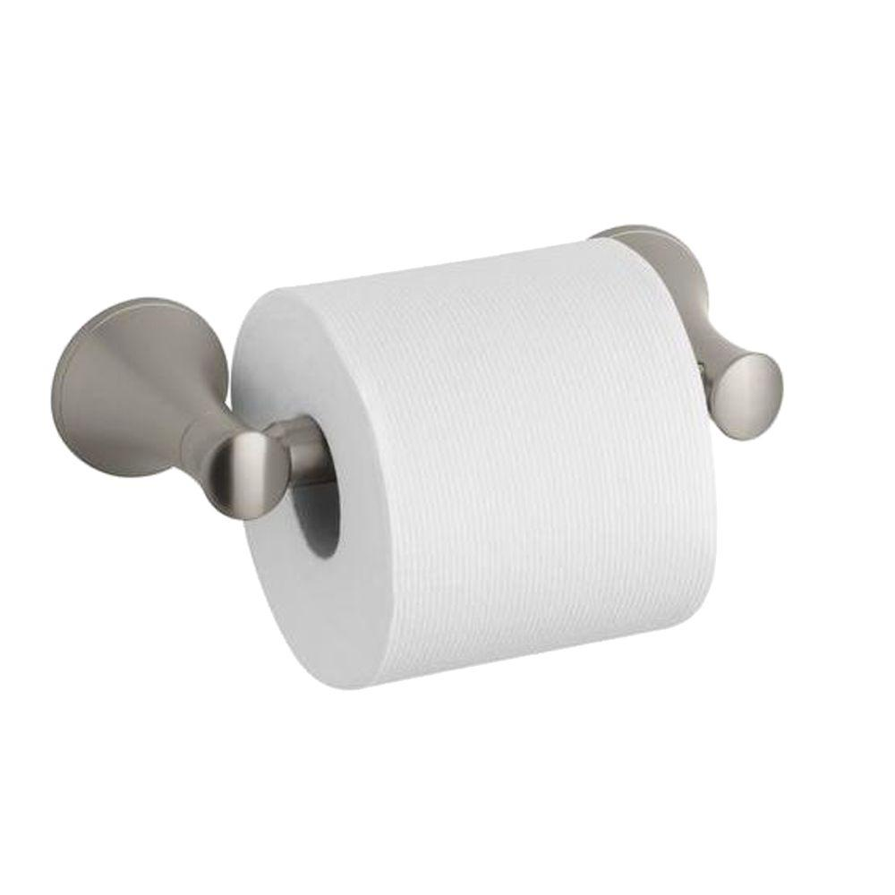 Coralais Toilet Paper Holder in Vibrant Brushed Nickel