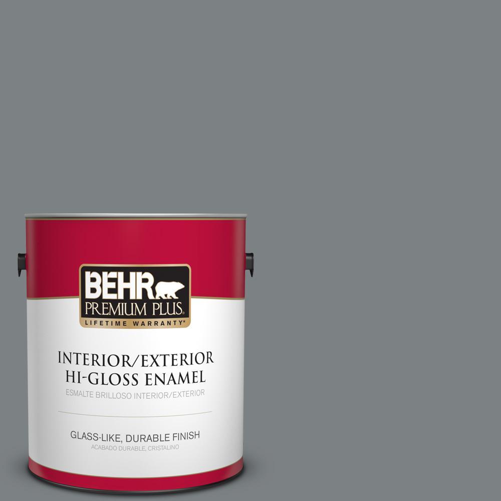 1 gal. #PPU26-03 Legendary Gray Hi-Gloss Enamel Interior/Exterior Paint