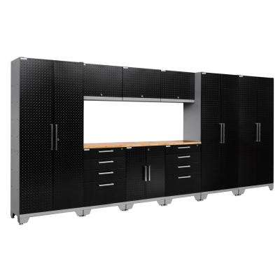 Performance Diamond Plate 2.0 72 in. H x 162 in. W x 18 in. D Garage Cabinet Set in Black (10-Piece)