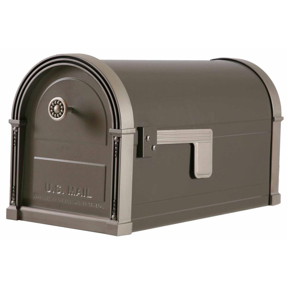 High Grove Post-Mount Mailbox in Light Bronze