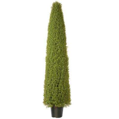 72 in. Artificial Boxwood Tree with Dark Green Growers Pot