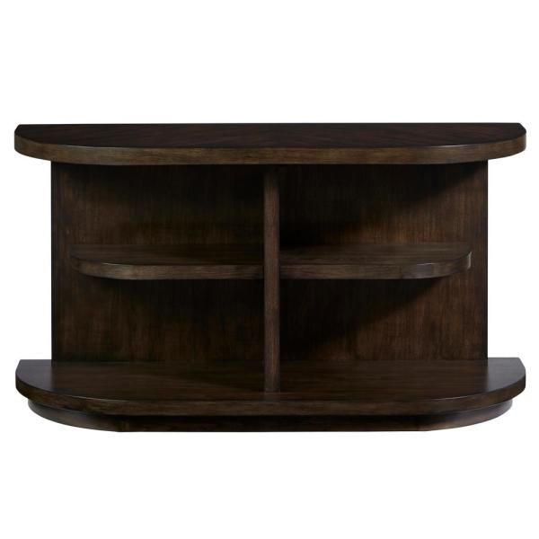 Augustine 52 in. Sepia Brown Rectangle Wood Console Table with Storage
