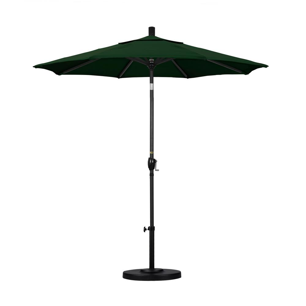 7-1/2 ft. Fiberglass Push Tilt Patio Umbrella in Hunter Green Pacifica