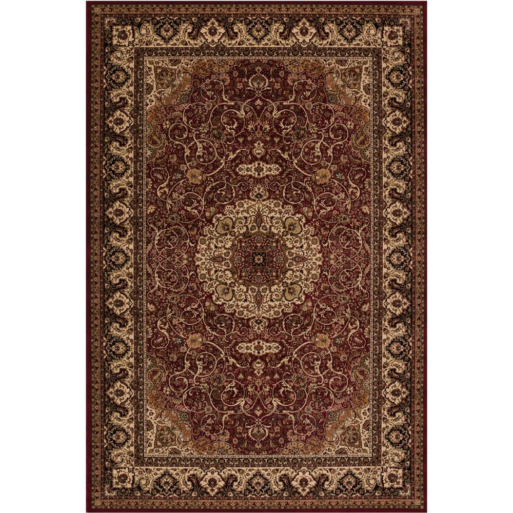 Concord Global Trading Persian Classics Isfahan Red 7 ft. 10 in. x 11 ft. 2 in. Area Rug