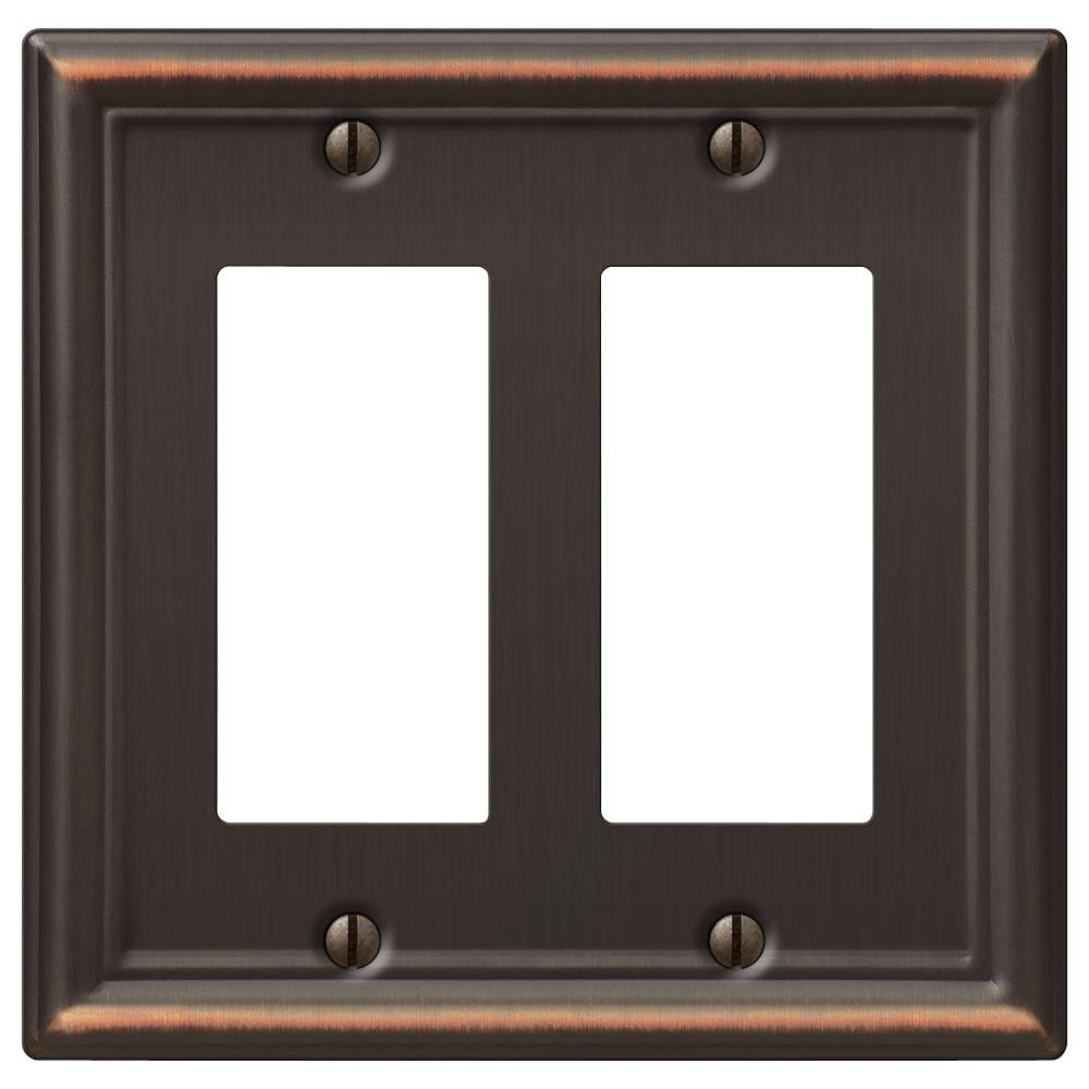 chelsea 2 decora wall plate aged bronze