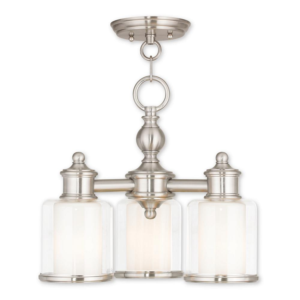 Middlebush 3-Light Brushed Nickel Convertible Mini Chandelier with Hand Crafted