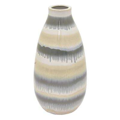 13.5 in. Multi-Colored Ceramic Vase