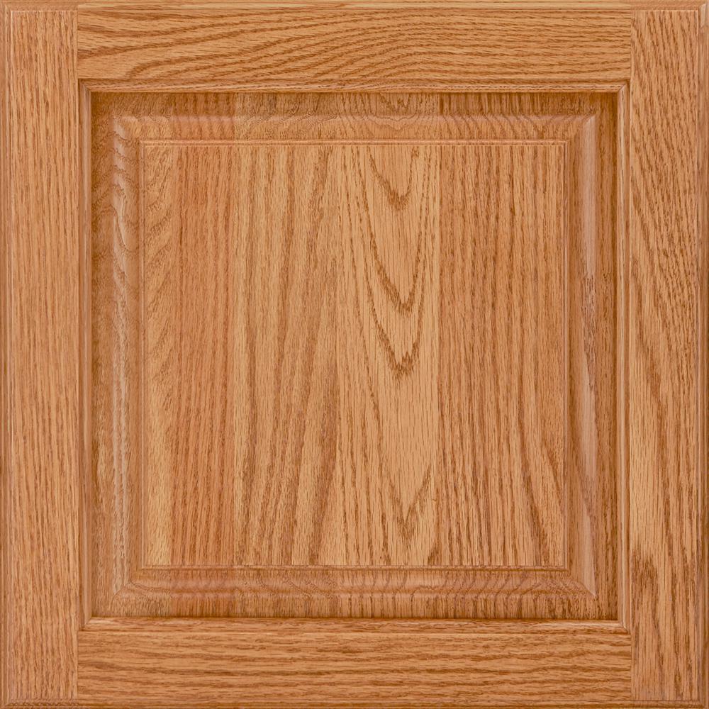 14-9/16x14-1/2 in. Cabinet Door Sample in Portola Oak Honey