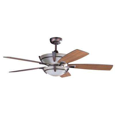 Cassiopeia 52 in. Oil Brushed Bronze Indoor Ceiling Fan