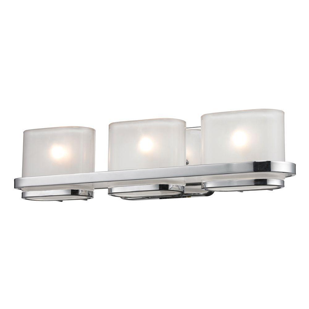 Titan Lighting 3-Light Wall Mount Polished Chrome Bath Bar-DISCONTINUED