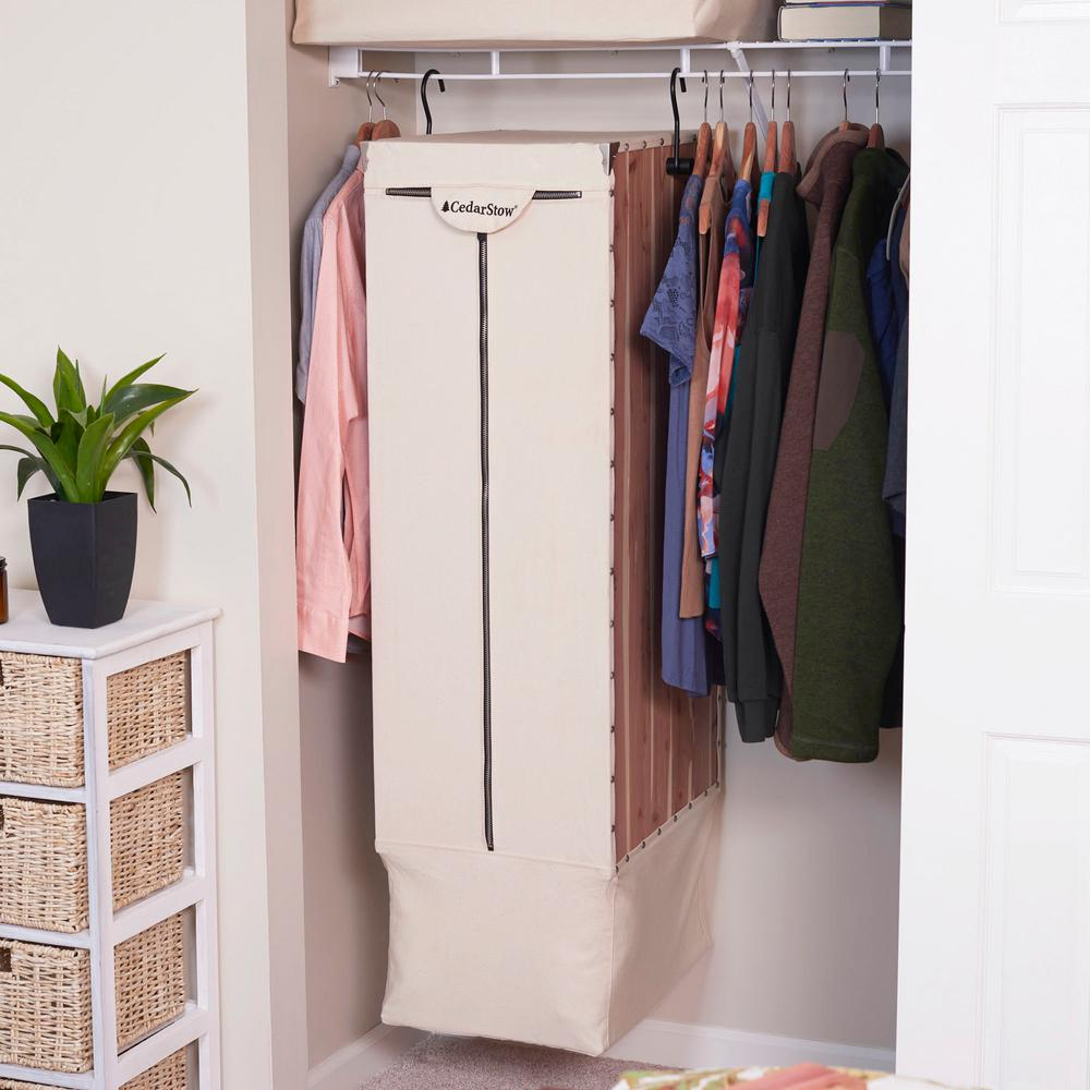 Household Essentials 15 25 In W X 52 H 19 8 D Natural Long Garment Hanging Bag