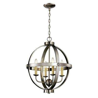 4-Light Brushed Nickel Pendant