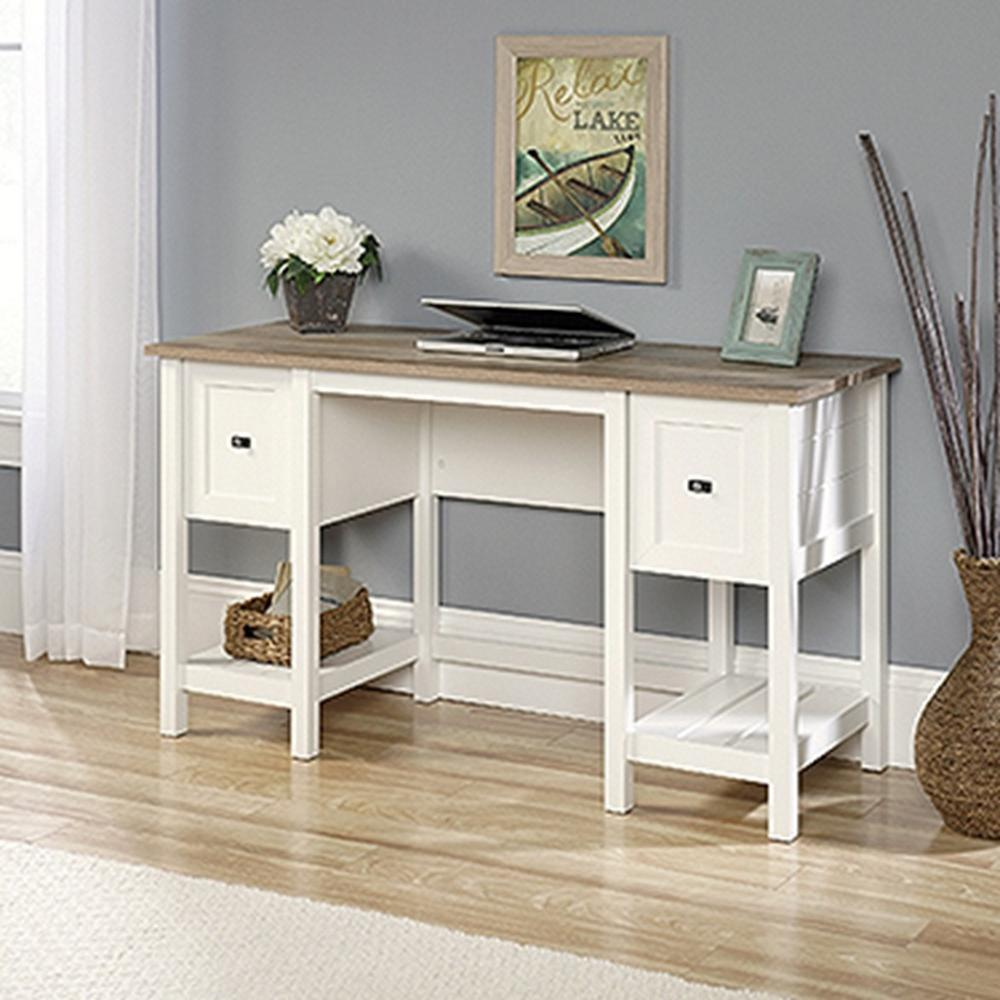 Sauder Cottage Road Soft White Desk