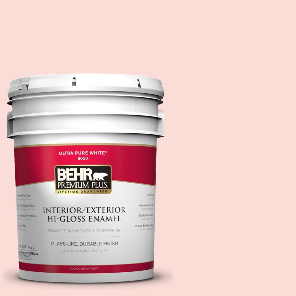 5-gal. #170A-1 Pink Parfait Hi-Gloss Enamel Interior/Exterior Paint