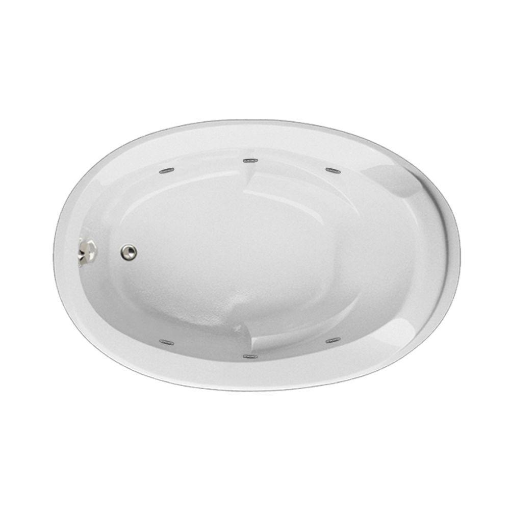 Hydro Systems Hartford 60 in. Acrylic Oval Drop-in Air Bath and Whirlpool Bathtub in White