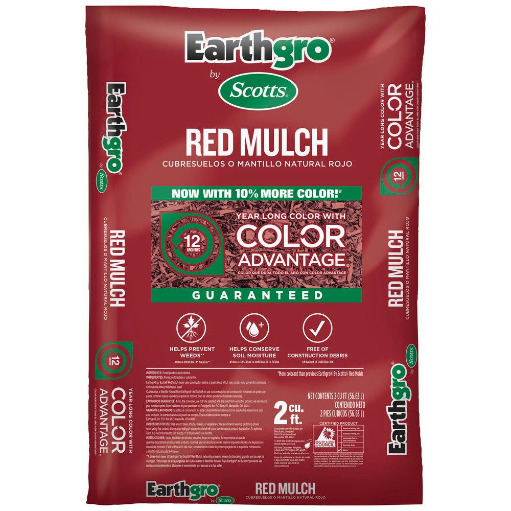 Scotts Earthgro 2 cu. ft. Red Mulch