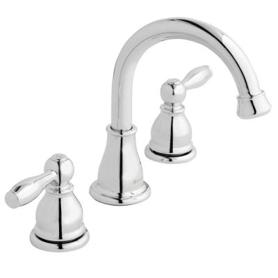 Mandouri 8 in. Widespread 2-Handle High-Arc Bathroom Faucet in Chrome