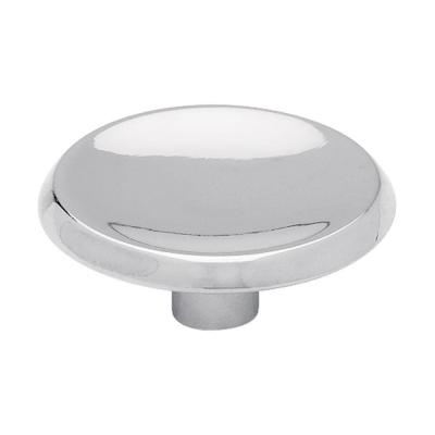 Concave 1-1/2 in. (38mm) Polished Chrome Round Cabinet Knob