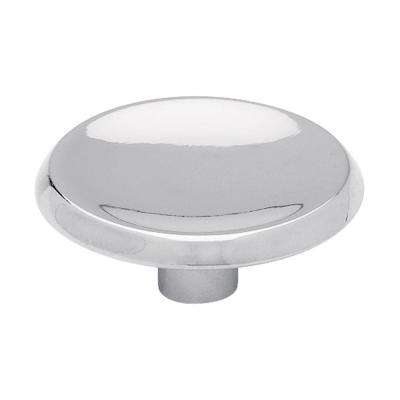 1-1/2 in. Polished Chrome Concave Round Cabinet Knob