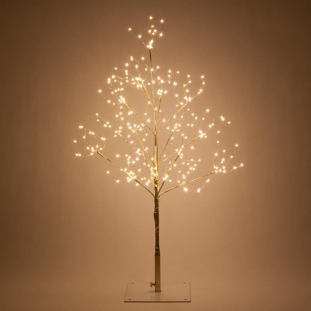 the latest 0cbd9 aff41 Wintergreen Lighting 3 ft. Gold Lighted Twig Tree with 270 Warm White LED  Fairy Lights