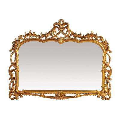 Capetian 43 in. x 55 in. Gold Leaf Framed Mirror
