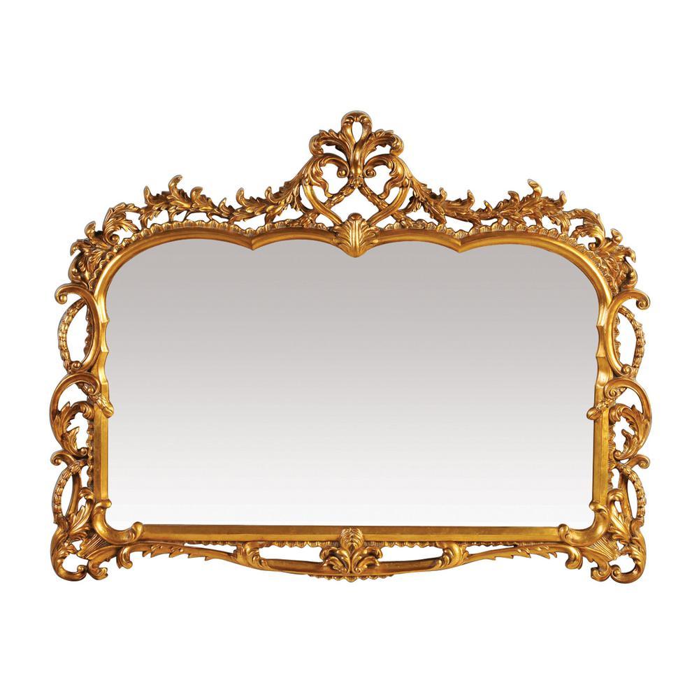 Capetian 43 in. x 55 in. Gold Leaf Framed Mirror