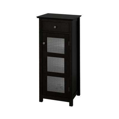 Cape Cod 15 in. W x 36 in. H x 14 in. D Bathroom Linen Storage Floor Cabinet in Espresso