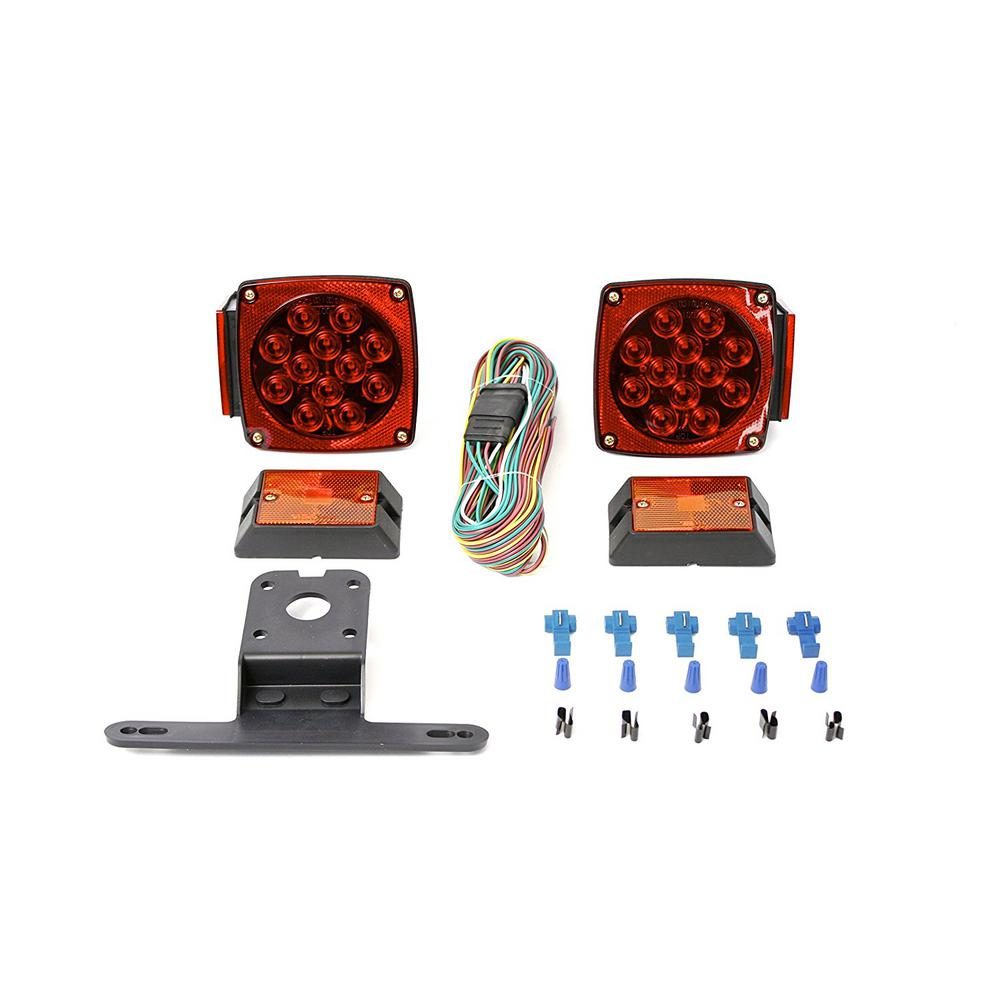 12 Volt Led Lights For Homes: MaxxHaul 12-Volt ALL LED Submersible Trailer Light Kit